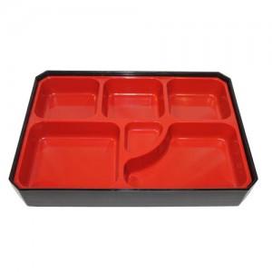 6-Compartment Rectangle Bento Box