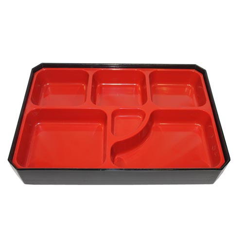 6-Compartment Rectangle Bento Box