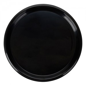 12IN. Round Black Disposable Catering Tray