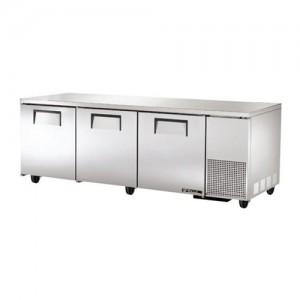 "True 93"" 3-Section Reach-In Undercounter Refrigerator"