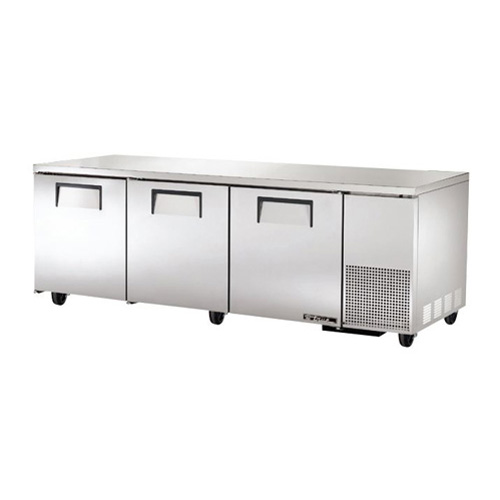 "True 93"" 3-Section Reach-In Undercounter Refrigerator"