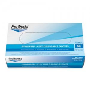 Medium Disposable Powdered Latex Gloves - 100 CT