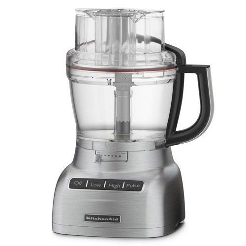 KitchenAid 13-Cup Cocoa Silver Die Cast Food Processor