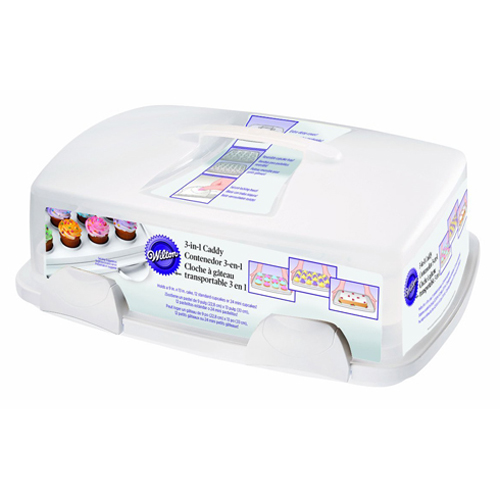 3-IN-1 12-Cavity Cupcake Caddy