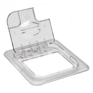 Polycarbonate Flip-Top Lid with Spoon Notch