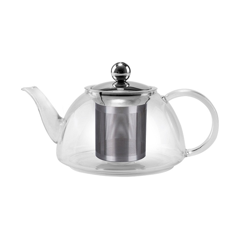 800ml Pyrex Glass Teapot with S/S Filter