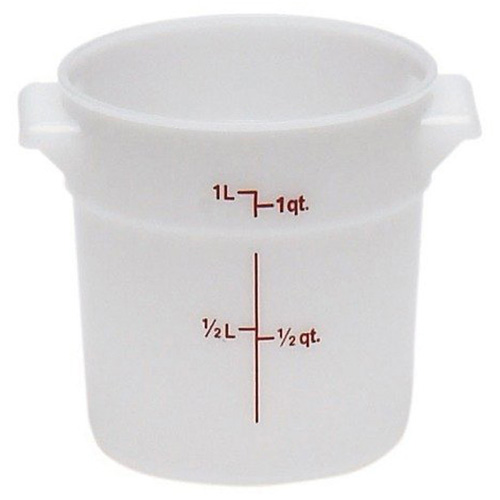 Cambro Round Ply-White Food Containers