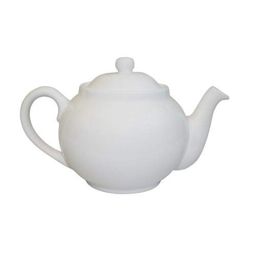 850ml White Porcelain Teapot
