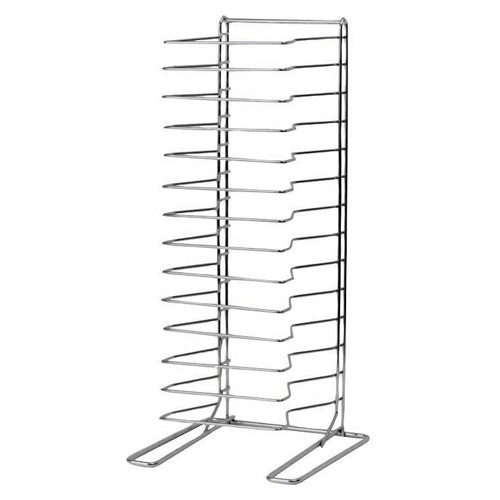 15-Slot Stationary Wire Pan Rack