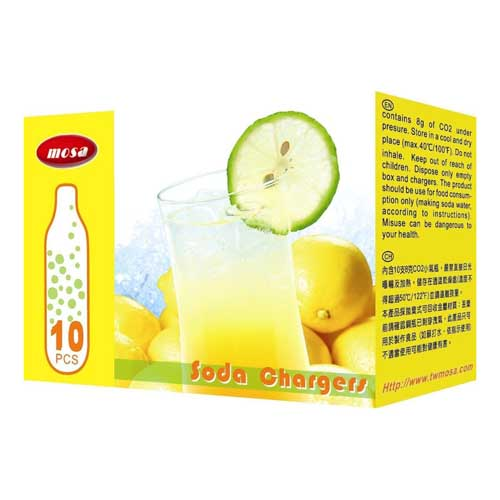 10-Pack CO2 Soda Chargers