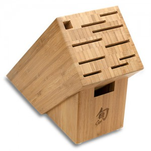 Shun 11-Slot Bamboo Knife Block