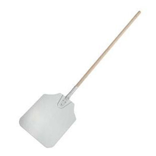 "12x14x52"" Aluminum Pizza Peel with Wood Handle"