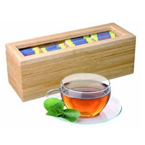 4-Section Bamboo Tea Box