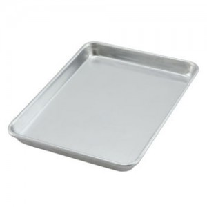 "18x26"" Medium Weight Aluminum Sheet Pan - 16 Gauge"