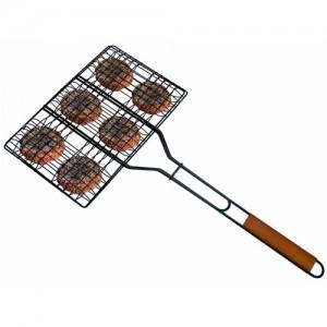 "9x13.5"" Non-Stick Hamburger Broiler Basket"