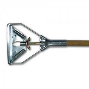 Wood and Metal Speed Change Mop Handle