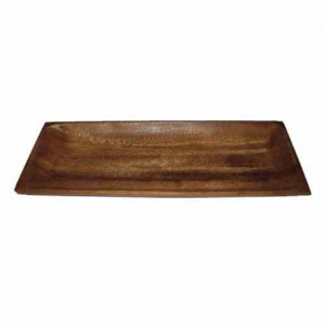 "13x5"" Rectangle Wood Plate"