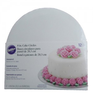"12-Pack 8"" Cake Board Circles"