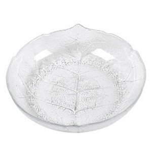 7.75IN. Glass Aspen Leaf Grain Soup Plate