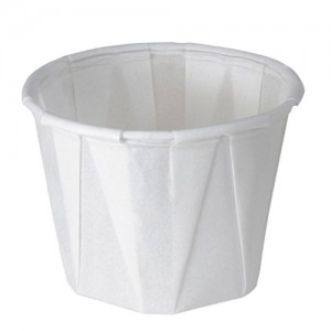 Solo 1 oz. White Paper Souffle Portion Cups - 250 PCS