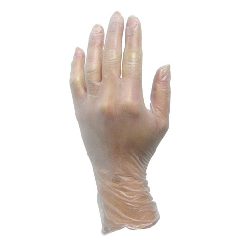 Large Disposable Powdered Vinyl Gloves - 100 CT
