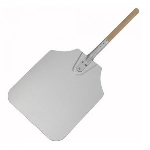 "12x14x26"" Aluminum Pizza Peel with Wood Handle"