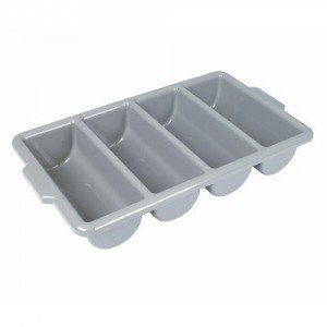 4-Compartment Grey Cutlery Tray