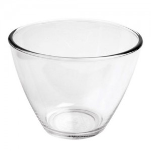 Contemporary Tapered Glass Serving Bowl