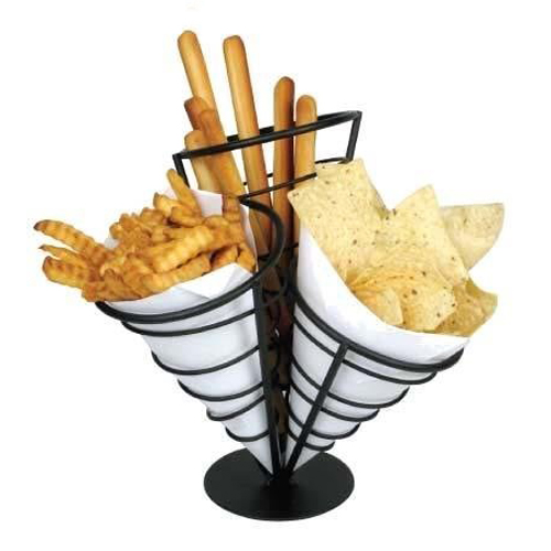 3-Cone Wire Appetizer Holder