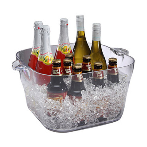 "14"" Square Polystyrene Beverage / Party Tub"