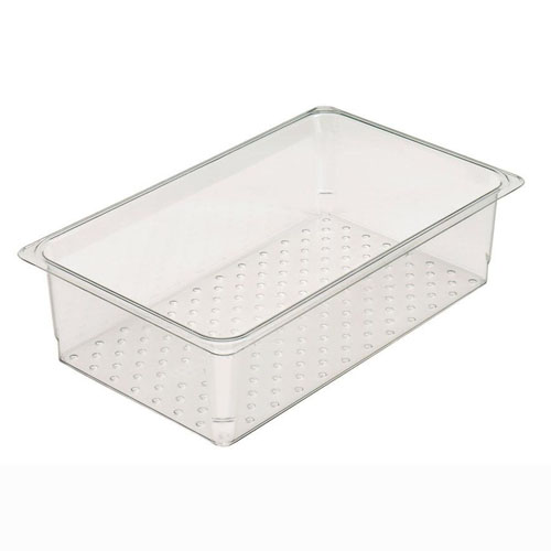"Full x 5"" Clear Perforated Steam Pan Insert"
