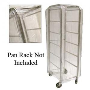 "28x24x62"" Clear Nylon Pan Rack Cover"