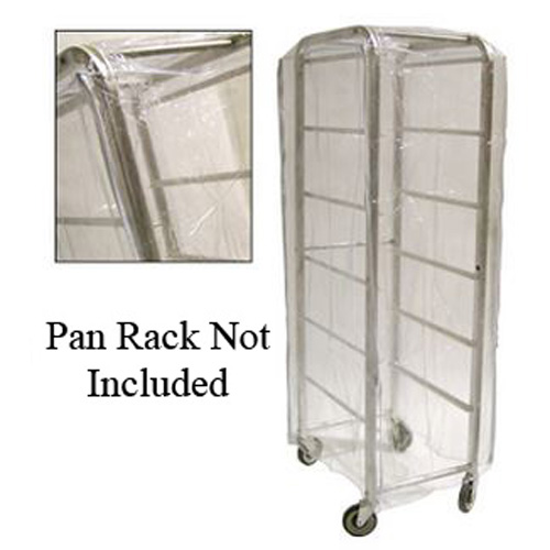 "28x24x62"" Clear Nylon Pan Rack Cover"