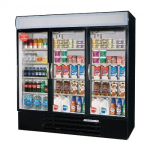 "Beverage Air 72"" 3 Glass Door Merchandiser"