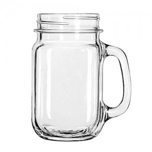 16 oz. Glass Drinking Jar