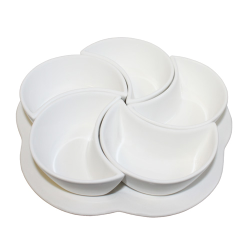 "Royal Classic Sampling Set with Five 3.75"" Bowls and 8.5"" Tray"
