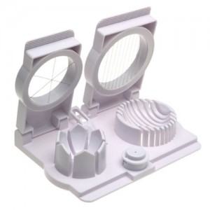 Egg Slicer, Wedger and Piercer with Garnishing Tool