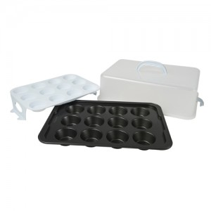 24-Cavity Muffin Pan with Carrier