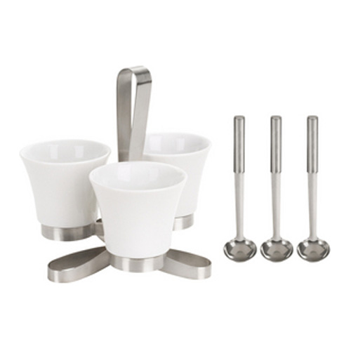 9-Piece Condiment Set with Rotating Stand