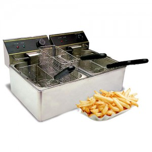 6L + 6L Countertop Electric Deep Fryer