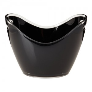 Black Vino Gondola Beverage / Party Tub - Holds Up to 4 Bottles