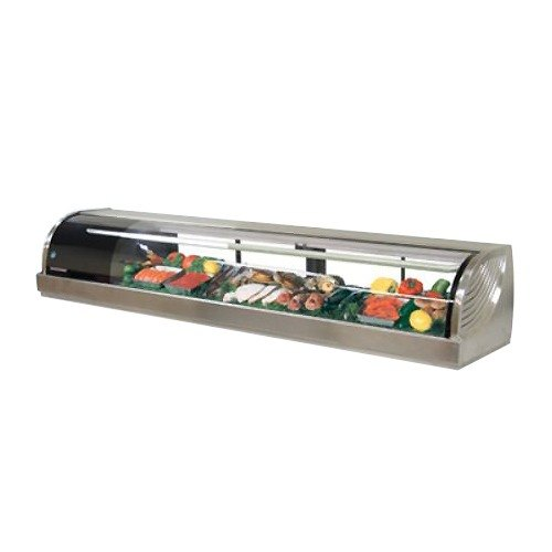 "Hoshizaki 82.7"" S/S Refrigerated Sushi Display Case - Left"
