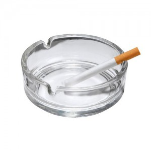 Round Glass Ashtray