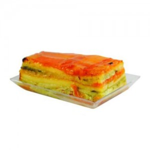 12-Piece Clear Disposable Mini Rectangle Dish