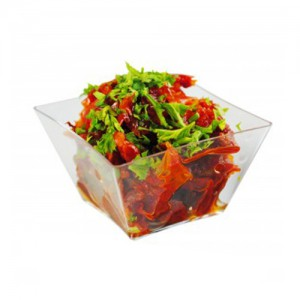 12-Piece Clear Disposable Mini Square Bowl