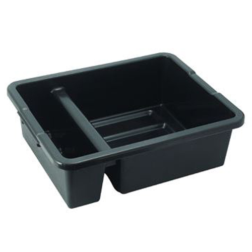 2-Compartment Black Divided Bus Bin