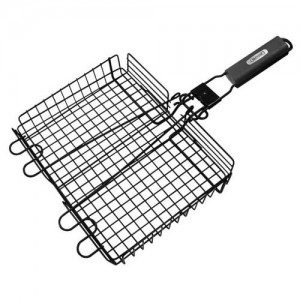 "9.5x12"" Broiler Basket with Detachable Handle"