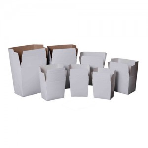 100-Piece White Paper Take-Out Food Pail