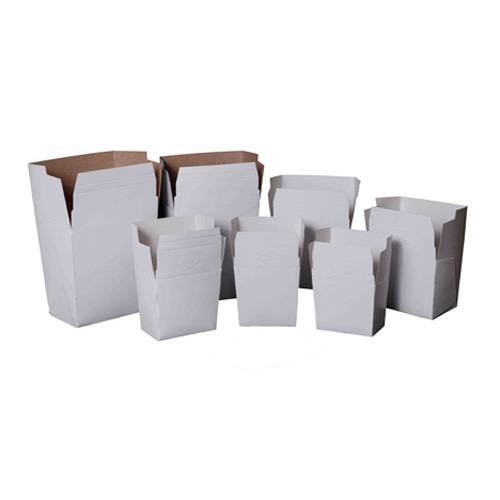 100-Piece White Paper Take-Out Food Pail