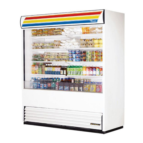 "True 72x30"" Vertical Air Curtain Merchandiser"